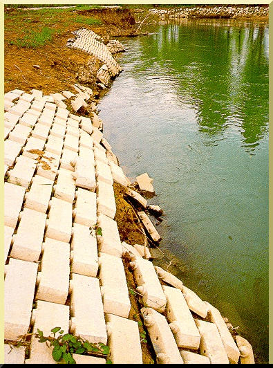 Failure of paved channels due to lack of flexibility