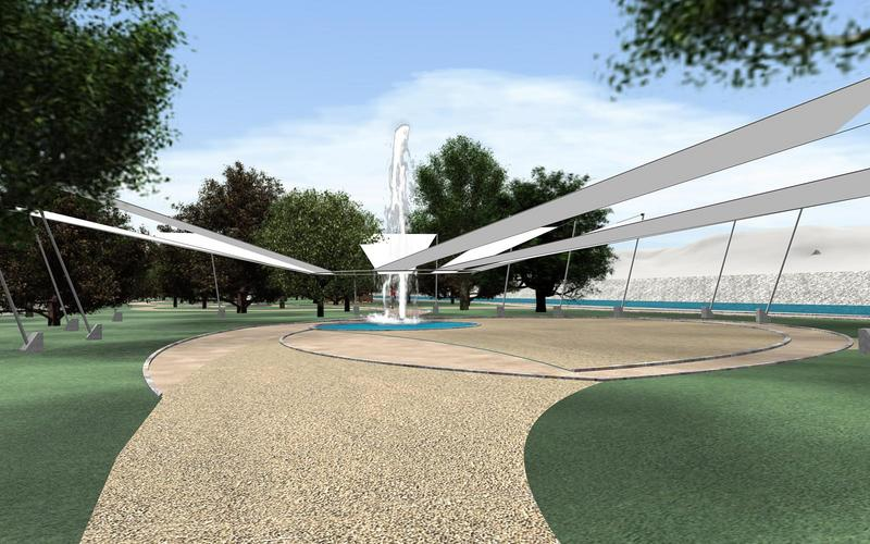 An architectural rendering of proposed recreational park in the Arroyo Alamar