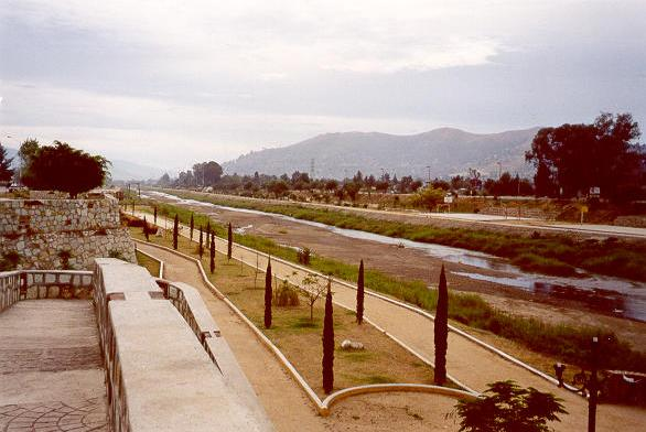 The Atoyac river, in Oaxaca, Mexico, where the concept of sustainable river architecture has been successfully implemented