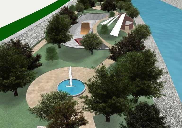 Sample digital rendering of the sustainable architectural design of Arroyo Alamar