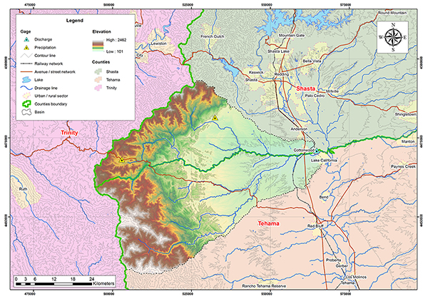 Cottonwood creek basin map.