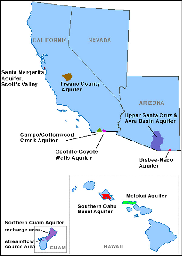Campo-Cottonwood Creek and Ocotillo-Coyote Wells aquifers