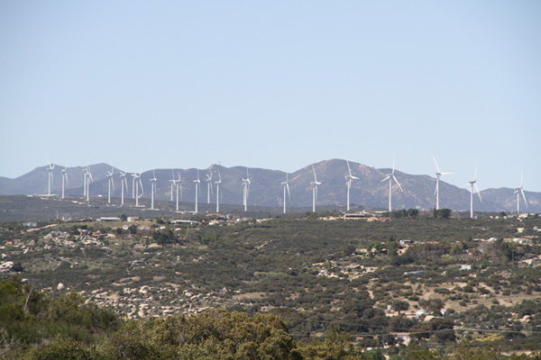 Kumeyaay Wind Farm, on the Campo Indian Reservation