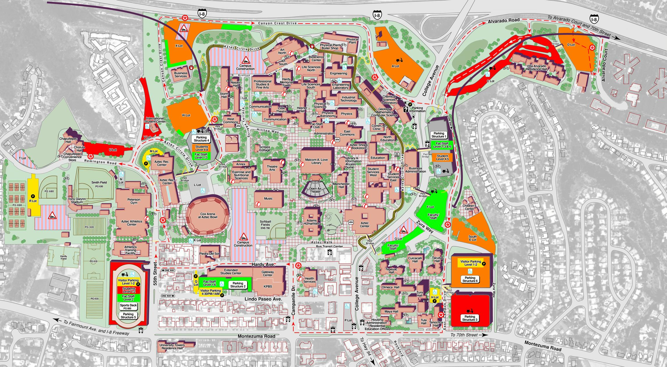 San Diego State University Campus map