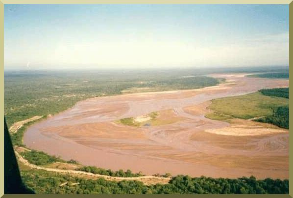 The Pilcomayo river, in the Chaco, between Paraguay and Argentina.