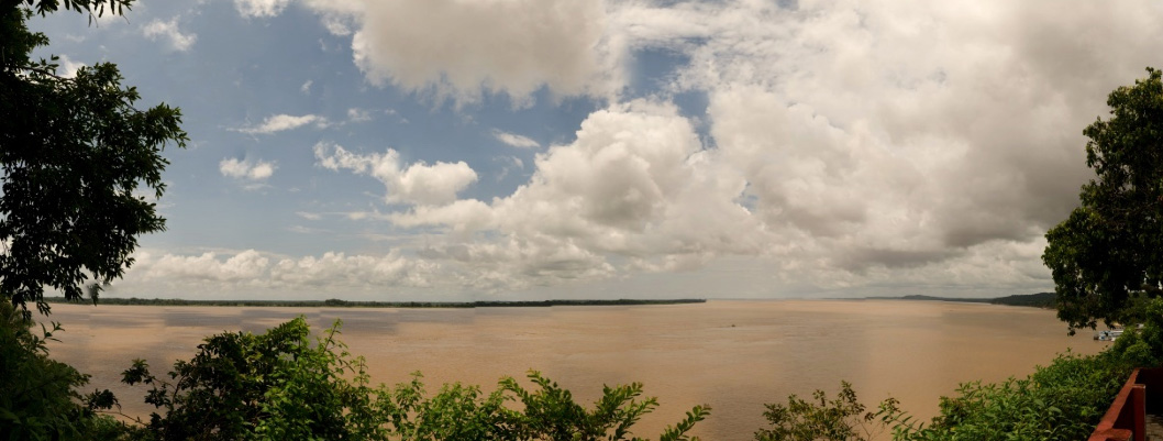 The Amazon river at Obidós, Pará, Brazil.