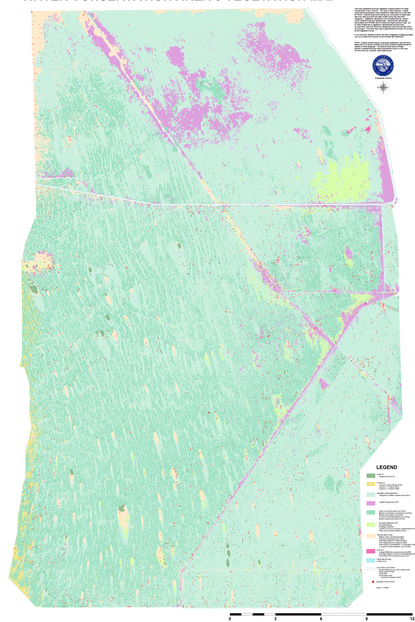 Vegetation map of Water Conservation Area 3,<br>Everglades, South Florida (1/8 scale)