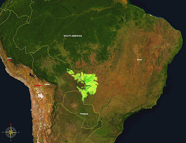 Geographical location of the Pantanal of Mato Grosso.