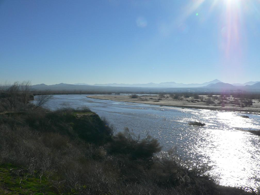 The Mohave river at Indian Trail, near Helendale, California.