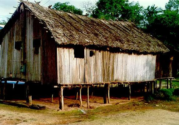 House on stilts in Caruaru village, near Amapa, Brazil, at the mouth of the Amazon river.
