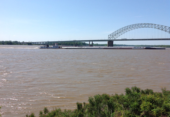 Río Mississippi en Mud Island,  Memphis, Tennessee