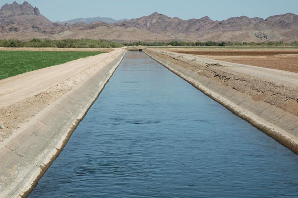 Irrigation canal, Wellton-Mohawk Irrigation District, Wellton, Arizona.