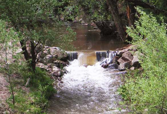 Weir on Ash Creek, near New Harmony, Utah.