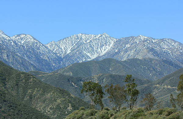 The San Gabriel Mountains, Southern California.