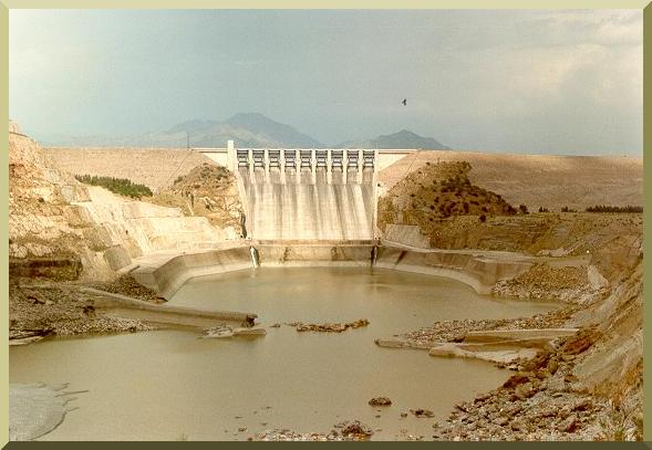 Spillway at Tarbela Dam, Pakistan.