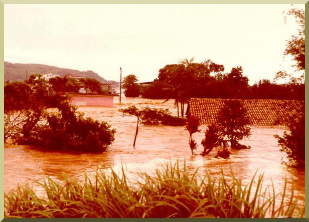 Flood stage in Itajai, Santa Catarina, Brazil, January, 1983.