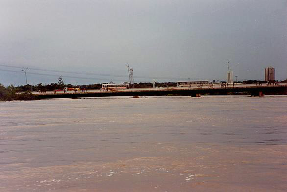 Flood stage on the Cuiaba river, Mato Grosso, Brazil