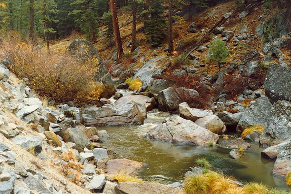 Indian Creek, in the Feather river watershed, Northern California (1989)