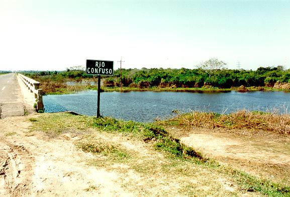 Rio Confuso (Confused river) in the Paraguayan Chaco.