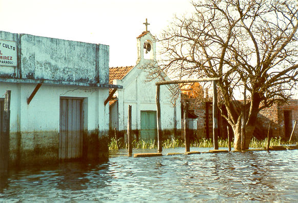 Flooding of Isla Margarita, on the Rio Paraguay, Paraguay