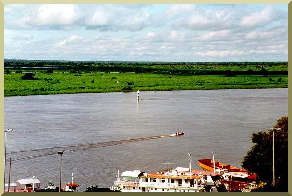 The Upper Paraguay river at Ladario, Mato Grosso do Sul, Brazil.