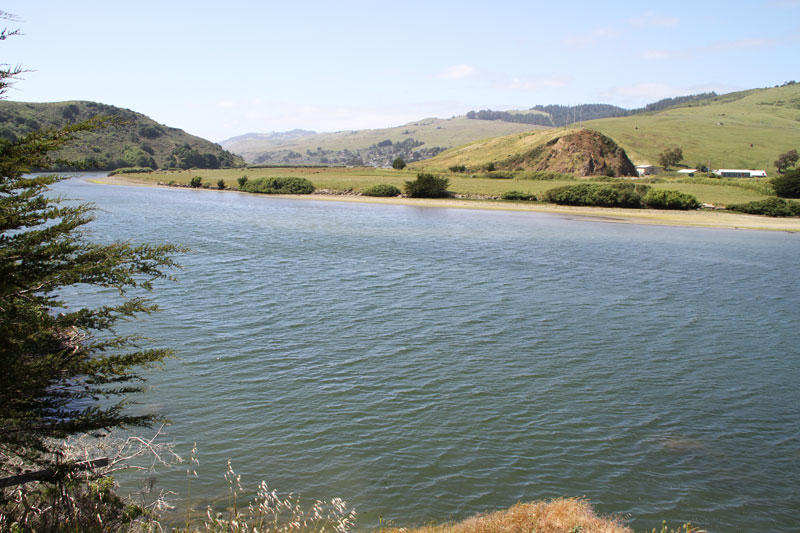 The Russian river near its mouth, Northern California