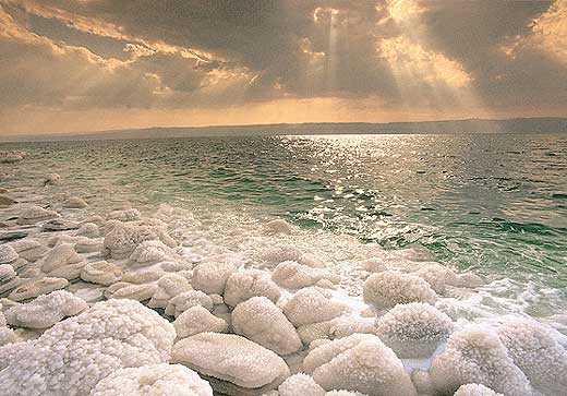 The Dead Sea, between Israel and Jordan