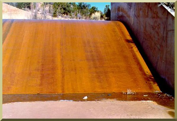 Emergency spillway at Sheep Creek Barrier Dam, Utah