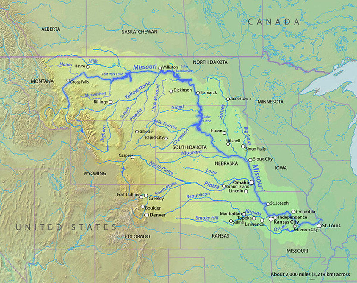 Missouri river basin (Wikimedia Commons)