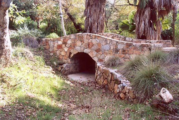 Pedestrian bridge over Kumiai Creek in Tecate