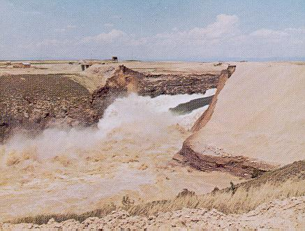 Failure of Teton Dam, on the Snake River, Idaho, on June 5, 1976