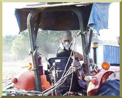 Protection against excessive dust is required when harvesting chufa