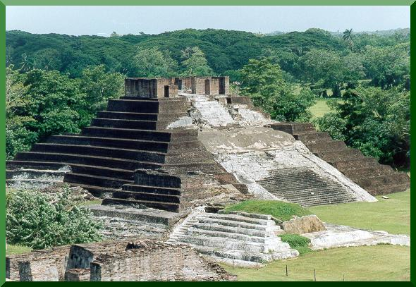 Main pyramid at Comalcalco, Tabasco, Mexico.