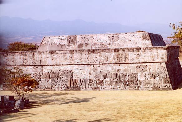 View of main building at Xochicalco complex.