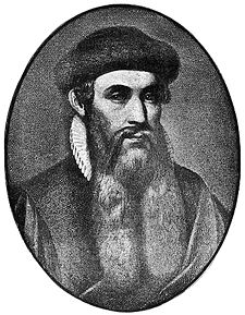 Johannes Gutenberg, inventor of the printing press