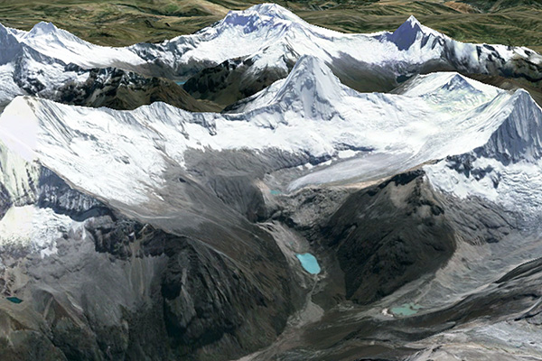 Artesonraju Glacier and Lake Artesoncocha